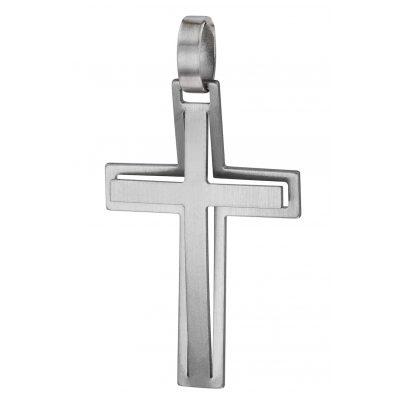 trendor 08919 Kreuz-Anhänger Edelstahl 30mm 4260497089193