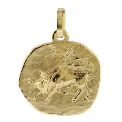 trendor 08962 Zodiac Pendant Taurus Gold 585/14 ct 4260497089629