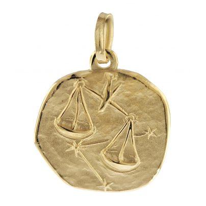 trendor 08967 Sternzeichen-Anhänger Waage 585 Gold 16 mm 4260497089674