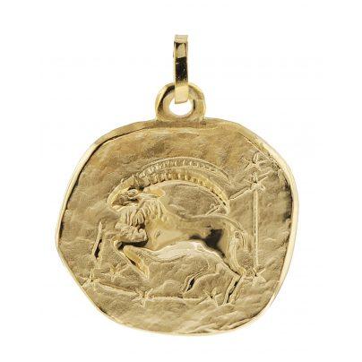trendor 08982 Sternzeichen-Anhänger Steinbock 333 Gold 20 mm 4260497089827