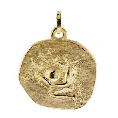 trendor 08983 Sternzeichen-Anhänger Wassermann 333 Gold 20 mm 4260497089834