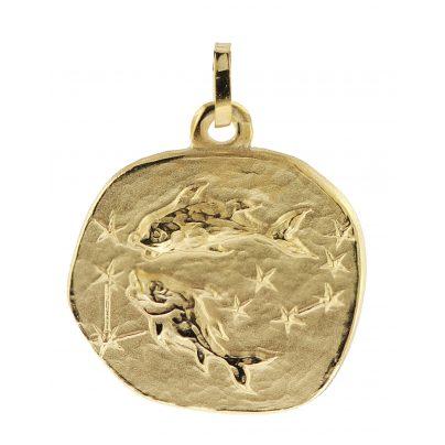 trendor 08984 Sternzeichen-Anhänger Fische 333 Gold 20 mm 4260497089841