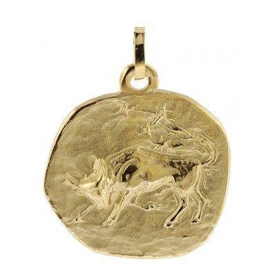 trendor 08986 Sternzeichen-Anhänger Stier 333 Gold 20 mm 4260497089865