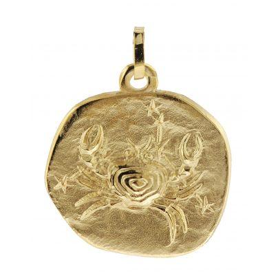 trendor 08988 Sternzeichen-Anhänger Krebs 333 Gold 20 mm 4260497089889