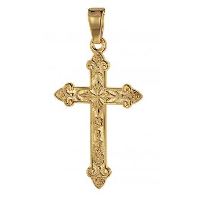 trendor 75104 Kreuz-Anhänger Gold 750 (18 Karat) 32 x 16 mm 4260641751044