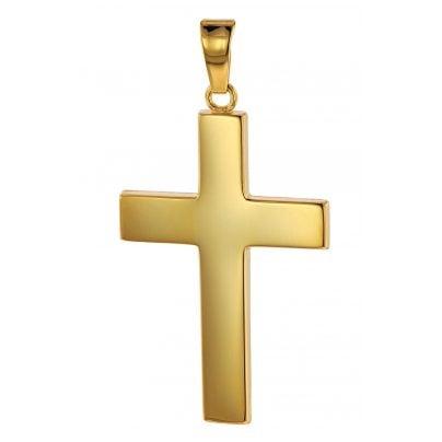 trendor 75117 Kreuz-Anhänger Gold 750 (18 Karat) 27 x 19 mm 4260641751174