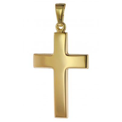 trendor 75268 Anhänger Kreuz Gold 585 (14 Karat) 24 mm 4260641752683