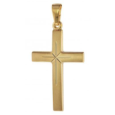 trendor 75281 Kreuz-Anhänger Gold 585 (14 Karat) 24 mm 4260641752812