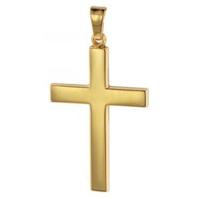 trendor 75314 Kreuz-Anhänger Gold 750 (18 Karat) 28 mm 4260641753147