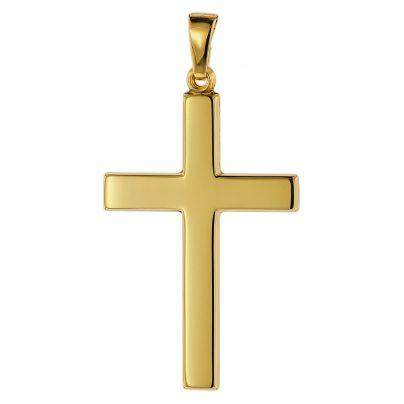 trendor 75367 Kreuz-Anhänger 28 mm Gold 585 / 14 Karat 4260641753673