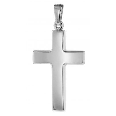 trendor 75368 Cross Pendant 24 mm White Gold 585 / 14 Carat 4260641753680