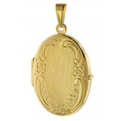 trendor 75536 Locket with Engraving Gold 333 / 8K 4260641755363