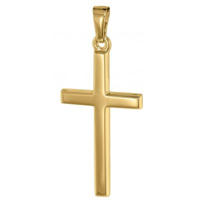trendor 75542 Kreuz-Anhänger für Herren 25 mm Gold 585 / 14K 4260641755424