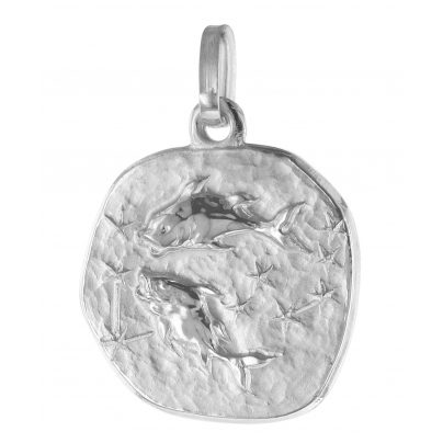 trendor 75932-03 Zodiac Sign Pisces White Gold 333 / 8 Carat Pendant Ø 16 mm 4260641759279