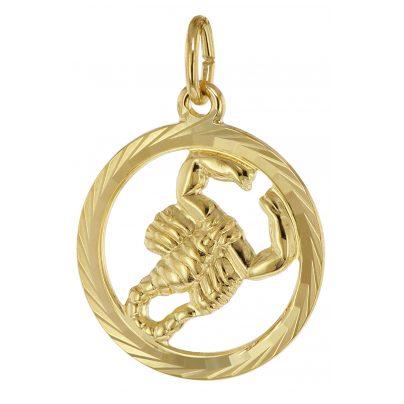 trendor 39000-11 Sternzeichen Skorpion 333 Gold Anhänger Ø 16 mm 4260684390071