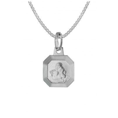 trendor 63751 Silber Damen-Halskette mit Amor-Anhänger 4260227763751