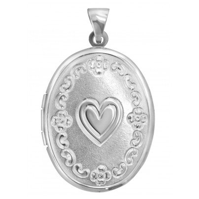 trendor 63805 Silver Locket with Heart 4260227763805