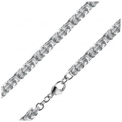 trendor 86113 Halskette für Männer 925 Sterlingsilber Königskette 4,7 mm
