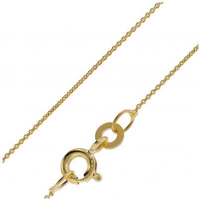 trendor 72405 Halskette für Anhänger 333 Gold Rundanker 0,8 mm breit