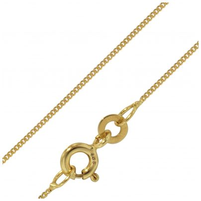 trendor 72436 Necklace 333 Gold Curb Flat 0.8 mm Wide
