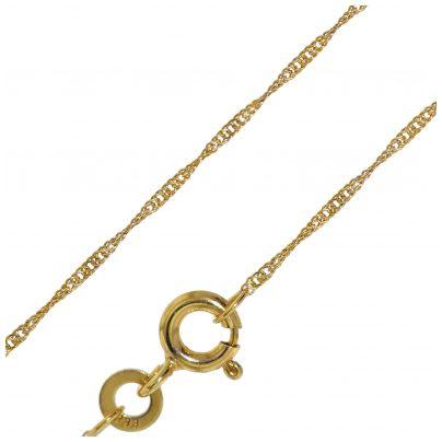 trendor 72450 Halskette Gold 333 Singapur-Muster 1,0 mm