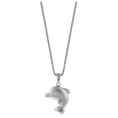 trendor 79619 Dolphin Pendant Necklace 925 Silver 4260333979619