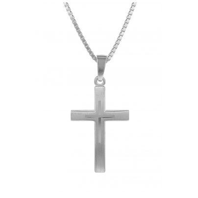 trendor 79602 Silber-Kreuz mit Kinder-Halskette 4260333979602