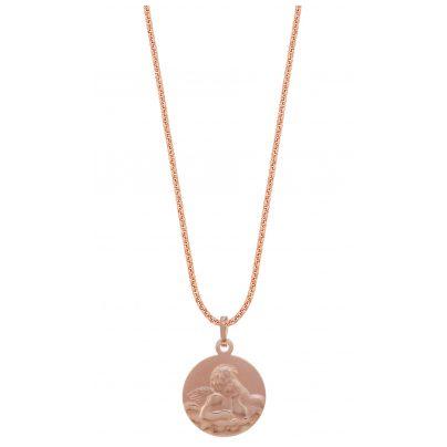 trendor 79466 Silber-Halskette mit Engel-Anhänger roségold 4260333979466