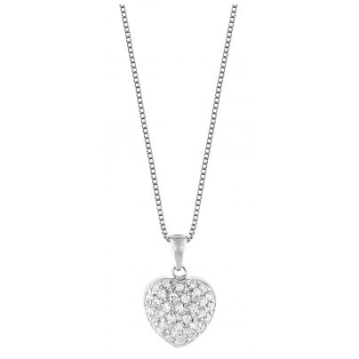 trendor 35911 Silber Kette mit Herz-Anhänger 4260435359111