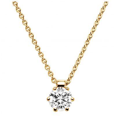 trendor 532531 Brilliant 0,15 Pendant And Necklace Gold 585/14K 4006025325315