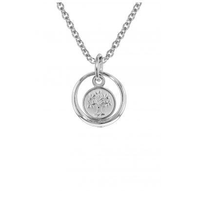 trendor 08468 Taufring mit Lebensbaum an Halskette in Kinderlänge Silber 925 4260497084686