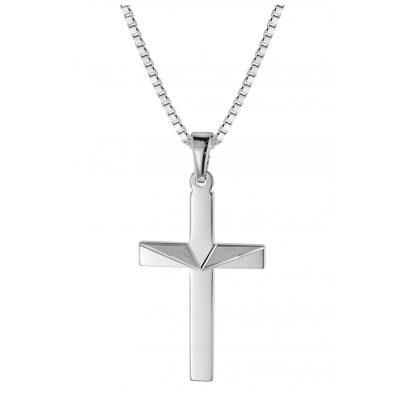 trendor 08477 Kreuz-Anhänger an Halskette für Männer Silber 925