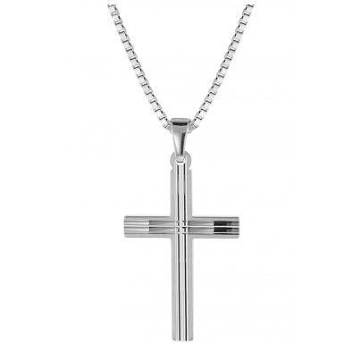 trendor 08480 Kreuz mit Herrenhalskette 925 Silber