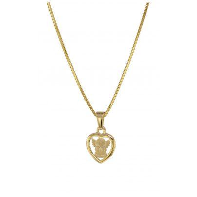 trendor 08557 Herz-Engel Gold 333 mit plattierter Kinder-Halskette