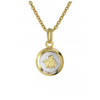 trendor 08560 Engel mit Kinder-Halskette Gold 333 4260497085607