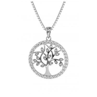 trendor 08544 Lebensbaum Anhänger mit Venezianer Kette 925 Silber