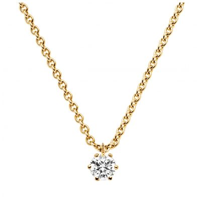 trendor 532654 Diamond 0.15 ct. Pendant With Necklace Gold 585/14K 4006025326541