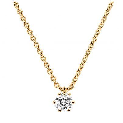 trendor 532655 Brillant 0,20 Karat Anhänger mit Halskette Gold 585 4006025326558