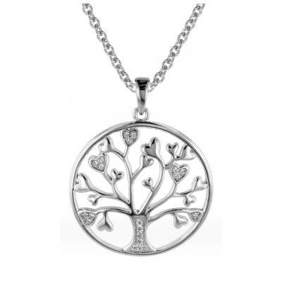 trendor 08817 Halskette für Frauen mit Lebensbaum Silber 925 4260497088172