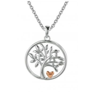 trendor 08819 Lebensbaum Anhänger für Damen mit Silberkette 925 4260497088196