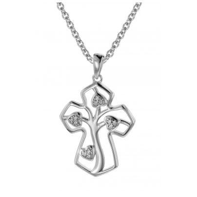 trendor 08820 Kreuz mit Lebensbaum Schmuckset Silber 925 4260497088202