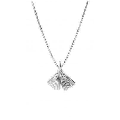 trendor 08929 Ginkgo-Anhänger mit Venezianer Halskette Silber 925