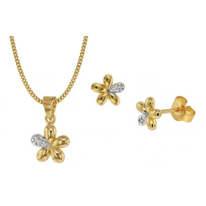 trendor 75109 Kinder-Schmuckset Blume 333 Gold/8 Karat 4260641751099