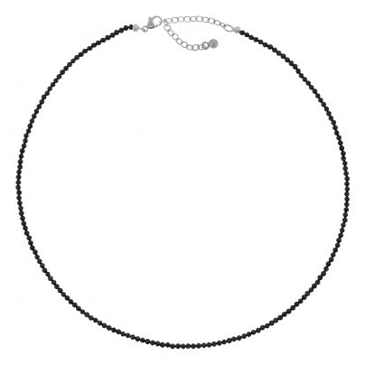 trendor 75345 Damen-Halskette Schwarzer Spinell 40 cm 4260641753451