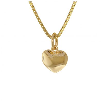 trendor 75394 Children's Heart Pendant Gold 585 14K with Gold Plated Necklace 4260641753949