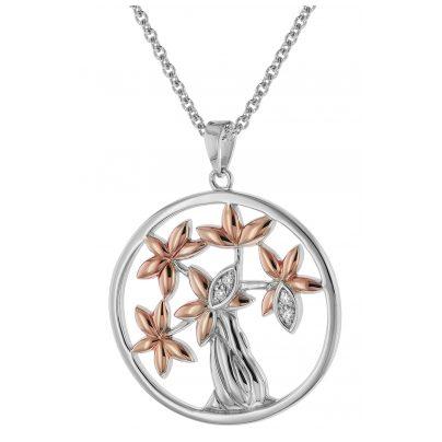 trendor 75511 Silver Pendant Tree of Life + Necklace 4260641755110
