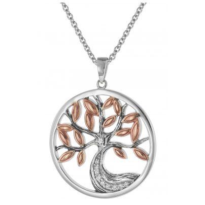 trendor 75512 Anhänger Lebensbaum + Halskette Silber 925 4260641755127