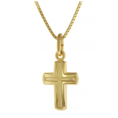 trendor 75624 Kinderkette mit Kreuz-Anhänger Gold 333 / 8 Karat 4260641756247