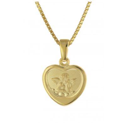trendor 75713 Halskette mit Schutzengel für Mädchen Gold auf Silber 925 4260641757138