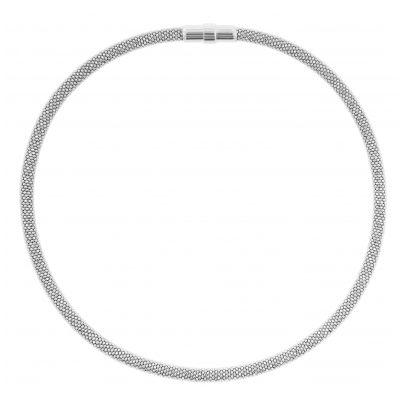 trendor 75775 Damen-Collier Silber 925 Glitzer Schlauchkette 4260641757756